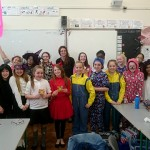 Ms O'Leary and the 5th Class students